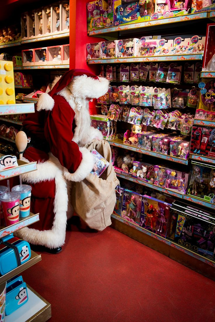Santa was caught red handed filling his sack with My Little Pony in Hamleys here in Copenhagen Airport... #CPHchristmas13