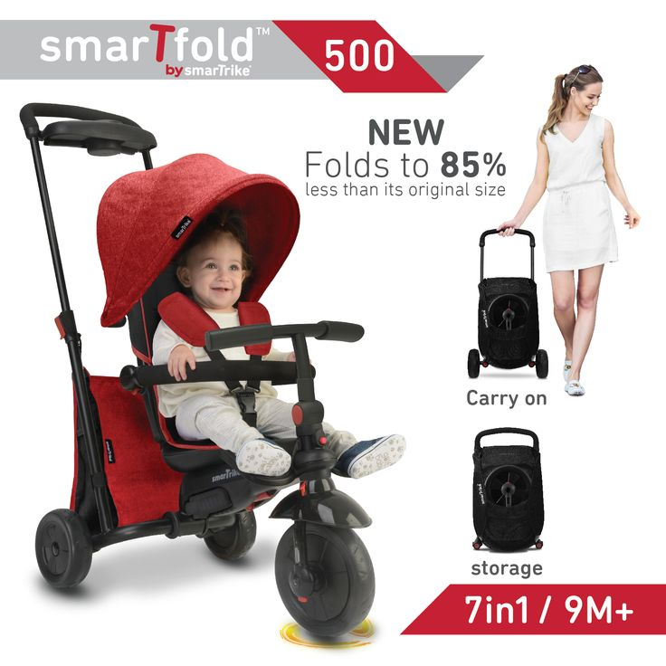 The new smarTfold is a revolutionary fully foldable, portable combination stroller and trike!