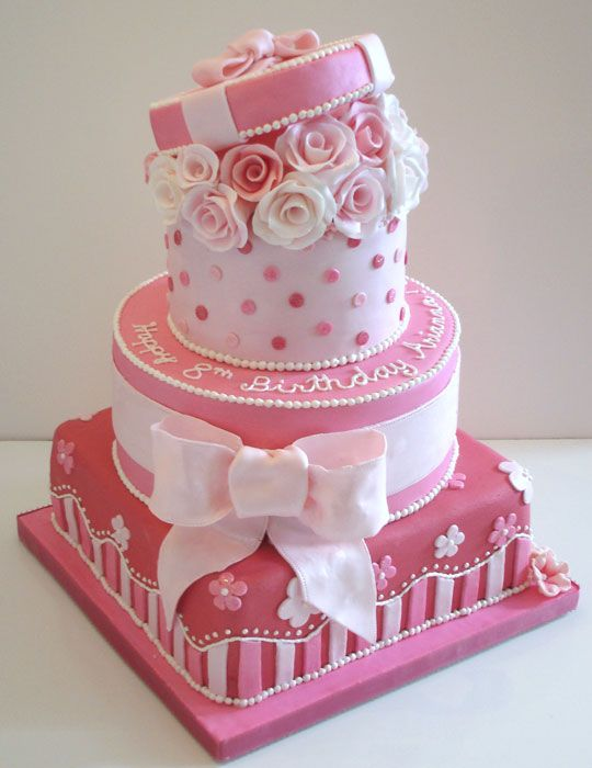 Birthday Cake Pictures Pink : 1000+ ideas about Pink Birthday Cakes on Pinterest ...