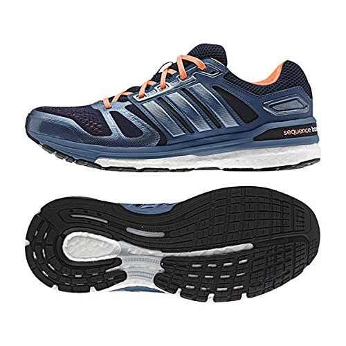 Adidas SS15 Womens Supernova Sequence Boost Running Shoes - Structured Cushion - US 6.5 - Black/Orange