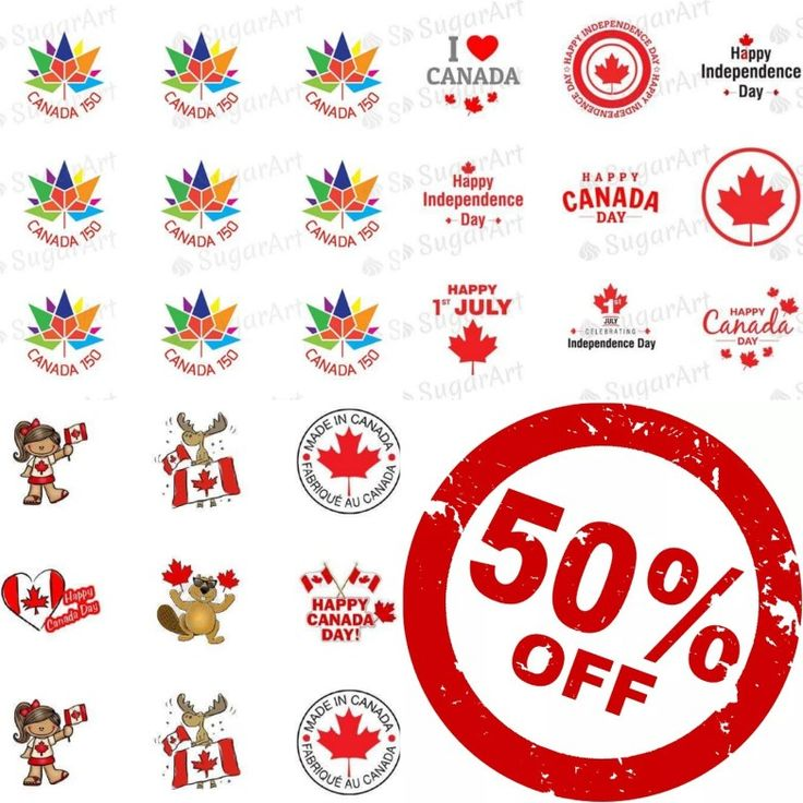 Discover Canada in it'a 150th year.  Our country turns 150 in 2017. 🍁🍁🍁 -------- 50% off on all Canada Day designs - $6 CAD / $4.4 USD www.sugar-art.ca (HSA040, HSA037, SA03) -------- Canada Day - is the national day of Canada. A federal statutory holiday, it celebrates the anniversary of the July 1, 1867! 🍁 -------- #sugarartcanada #meringue #canada #canada150 #happycanadaday #canadaday #red #sale #50off #celebration #national #holiday #sweet #baking