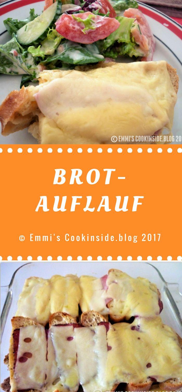 Brotauflauf, eine tolles Rezept, um Brotreste zu verwerten! Zusammen mit Eier, Schinken und Käse ergibt das ein leckeres Abendessen für die ganze Familie! Einfaches Rezept!