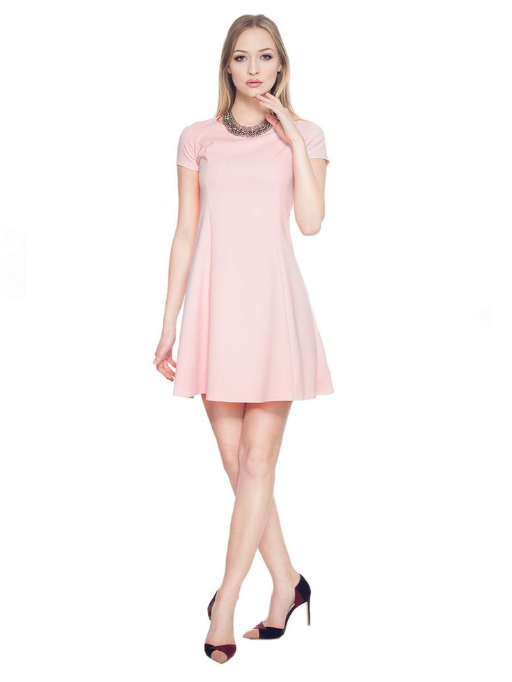 Rozkloszowana sukienka SL2165P www.fajne-sukienki.pl