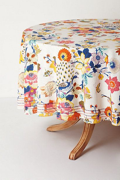 Heredia Tablecloth #anthropologie {orange + pink + aqua + blue = oh my!}  #FlowerShop