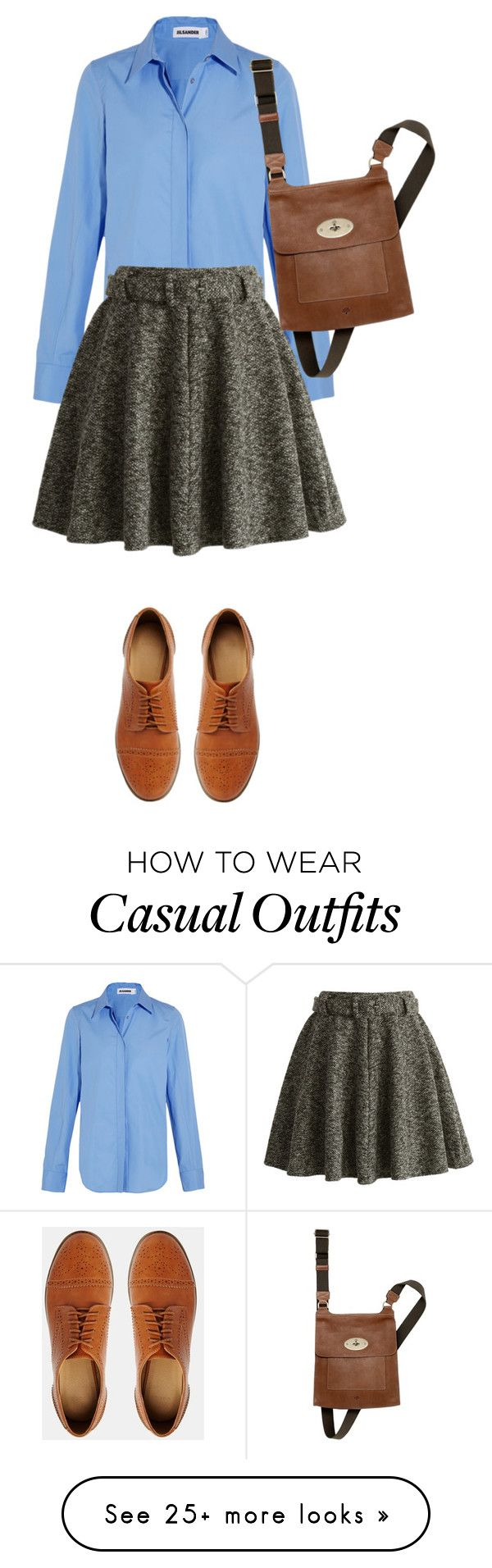 """casual rectangle body shape"" by ama212 on Polyvore featuring Jil Sander, Chicwish, ASOS and Mulberry"
