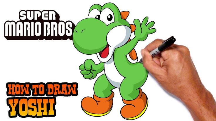 How to Draw Yoshi | Super Mario Bros