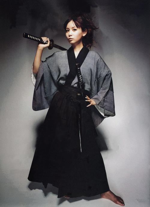 """Samurai girl Shoko Nakagawa"" photo shoot. Image via g2slp of Flickr"
