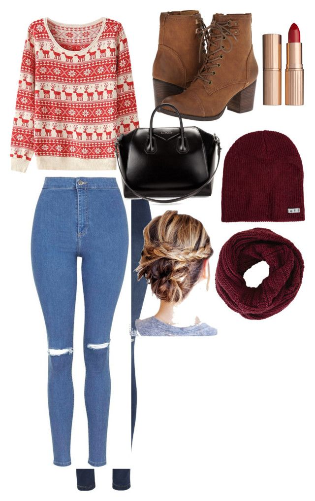 """""""Santa clause is coming"""" by hannahlee01 on Polyvore featuring Madden Girl, George, Topshop, Givenchy, Charlotte Tilbury, BCBGMAXAZRIA and Neff"""