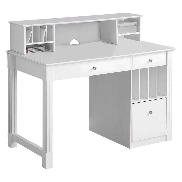 Best 25 White Desk With Hutch Ideas On Pinterest White