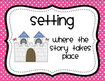 Cute Story Elements Posters - Mrs. Ricca's Kindergarten - TeachersPayTeachers.com