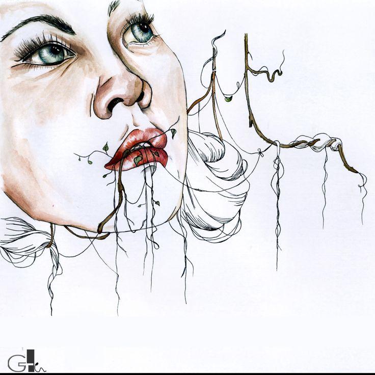 #myart #mywork #collage #watercolor #waterbrush #drawing #art #painting #ink #illustration #woman #fashion #white #black #design #artwork #sketch @laikaG | GAIA TELESCA |