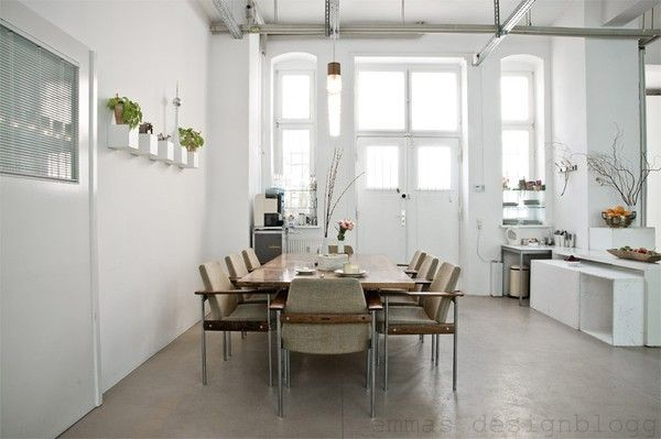 Emma Design Blog, Cottages Kitchens, Dreams Home, Studios, High Ceilings, Industrial Design, White House, White Wall, White Kitchens