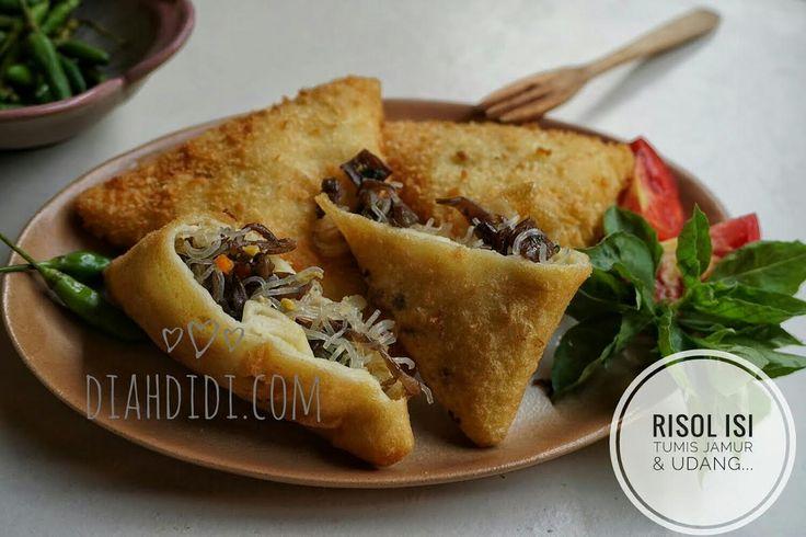 Diah Didi's Kitchen: Risol Isi Tumisan Udang & Jamur