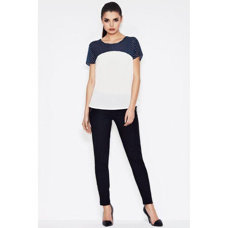 Bluza casual alba de dama  #cumparaonline #bluzedama #casual #promotii #reducere