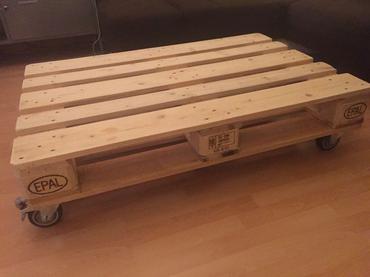 Homemade Europallet Coffee Table Europaletten Couchtisch Made From 2 Pallets So That The Upper