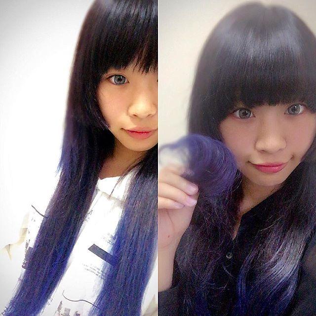 WEBSTA @ rir.k - マニパニのライラック!!!思ってたより青っぽかった(笑)とても良い色❤︎太陽光やと紫っぽい٩(*´︶`*)۶#派手髪 #青髪…