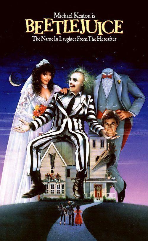 Beetlejuice (1988) a film by Tim Burton + MOVIES + Alec Baldwin + Geena Davis + Michael Keaton + Annie McEnroe + Maurice Page + Hugo Stanger + cinema + Comedy + Fantasy