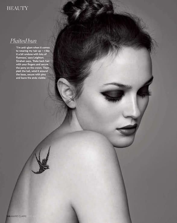 NOIR FAÇADE - The place for fashion editorials. - Wild Child | Leighton Meester by Christophe Meimoon for Marie Claire UK December 2010