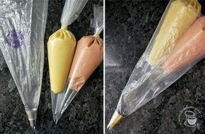 Dicas de saco de confeitar - duas cores