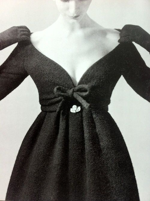 Fashion by Yves Saint Laurent for Dior, 1958.