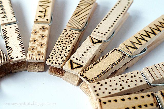 ##doit Ef Zin Creations: DIY Pyrography Clothpins