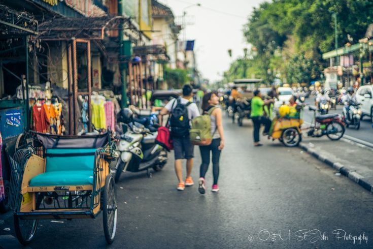 2 Weeks in Indonesia: Jalan Malioboro, the most popular street in Yogyakarta. Central Java. Indonesia