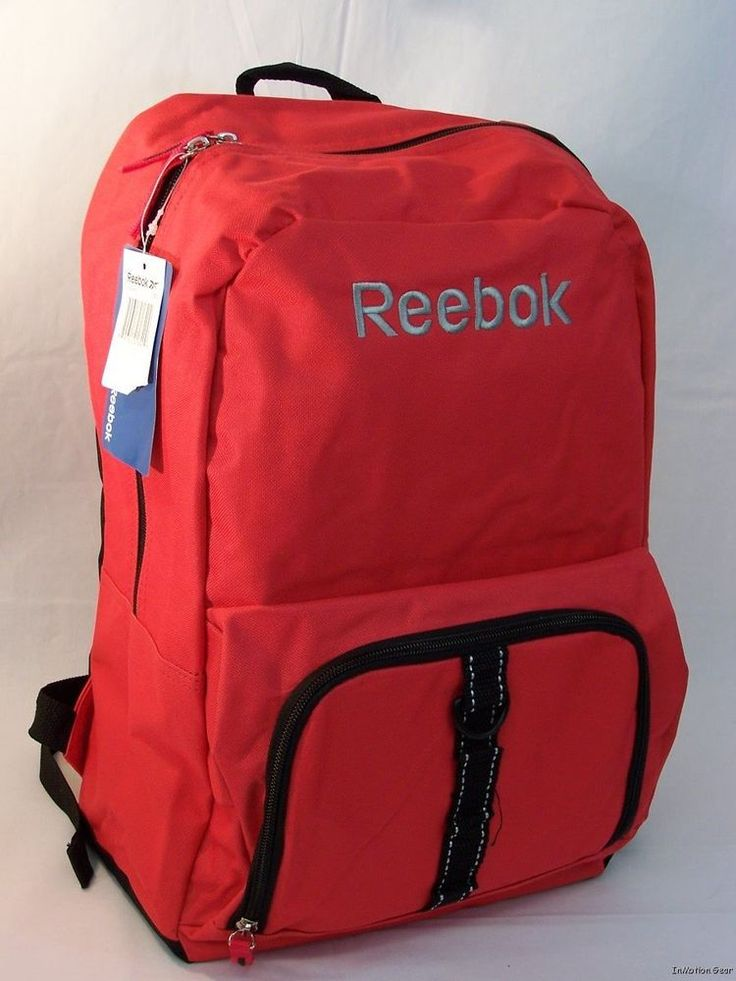 Reebok Red Back Pack Book Bag Supplies for School Gym $17.99