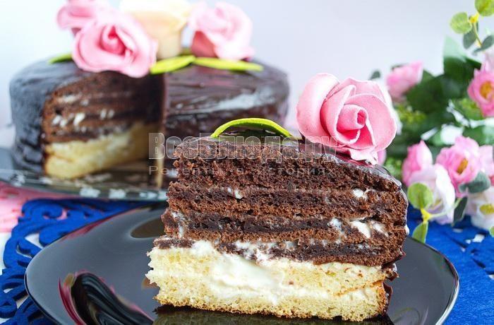 Торт Тающее Чудо со сметанным кремом