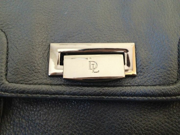 Ladies David Lawrence Black 100% Leather Designer Tote Bag - Now Selling! Click through to go to eBay auction.