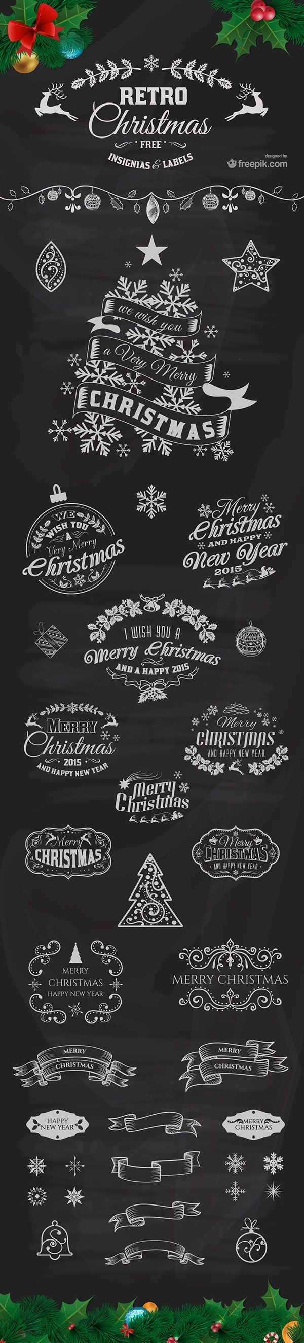 Access All Areas members are being treated to some early Christmas pressies today from Freepik. This pack of Retro Christmas Insignias & Labels contains 30 customisable designs with a festive theme for members to use in their Christmas promos. Each file is available in vector AI and EPS formats, with a list of freely downloadable …