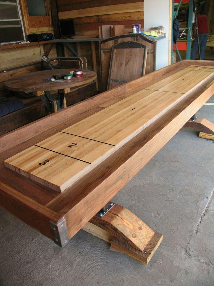 Custom Made Shuffle Board Table, Custom Made From Hardwood