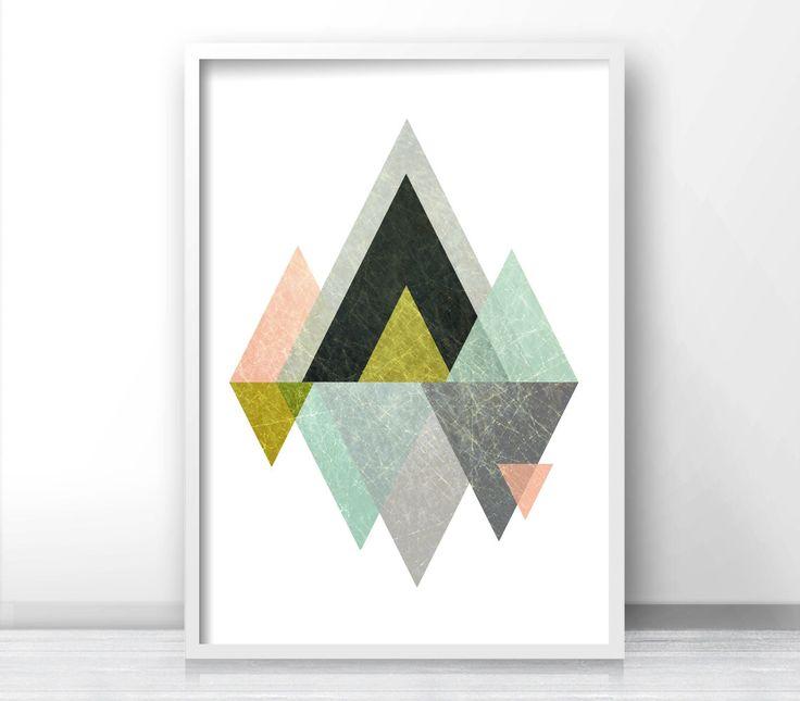 Triangle Print, Printable Art, Geometric Art print, Scandinavian Design, Geometric Art, Minimalist Art, Abstract Wall Art, Art Poster *26* by Artvintagedecor on Etsy https://www.etsy.com/listing/263473532/triangle-print-printable-art-geometric