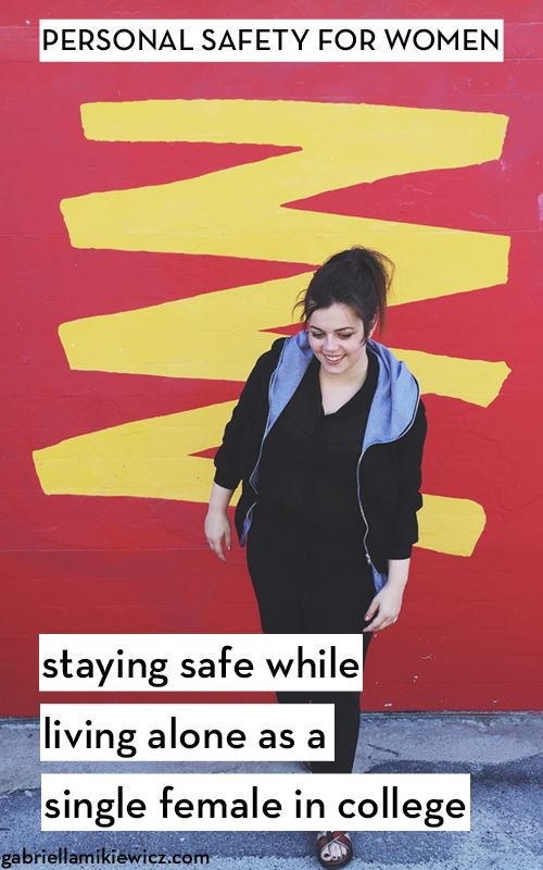 10 Ways to Stay Safe Living Alone in College as a Single Female. Living alone in your 20s, especially in college, can be scary! Here are some great ways that I stay safe even when I'm living alone.