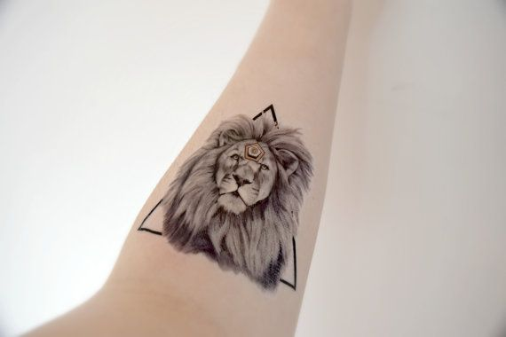 Hey, I found this really awesome Etsy listing at https://www.etsy.com/listing/187006502/large-temporary-tattoo-lion-animal