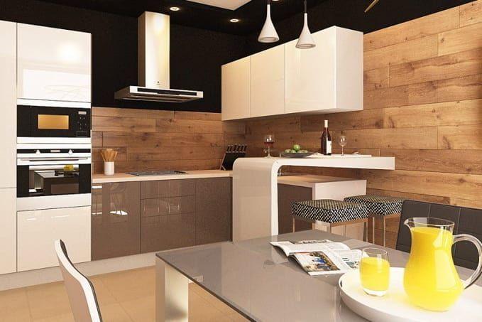Дизайнерское применение ламината на стены и потолок. Ламинат на стенах и потолке интерьеры фото.