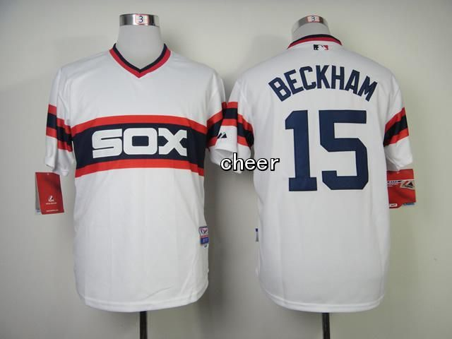 Men's MLB Chicago White Sox #15 Gordon Beckham White Jersey