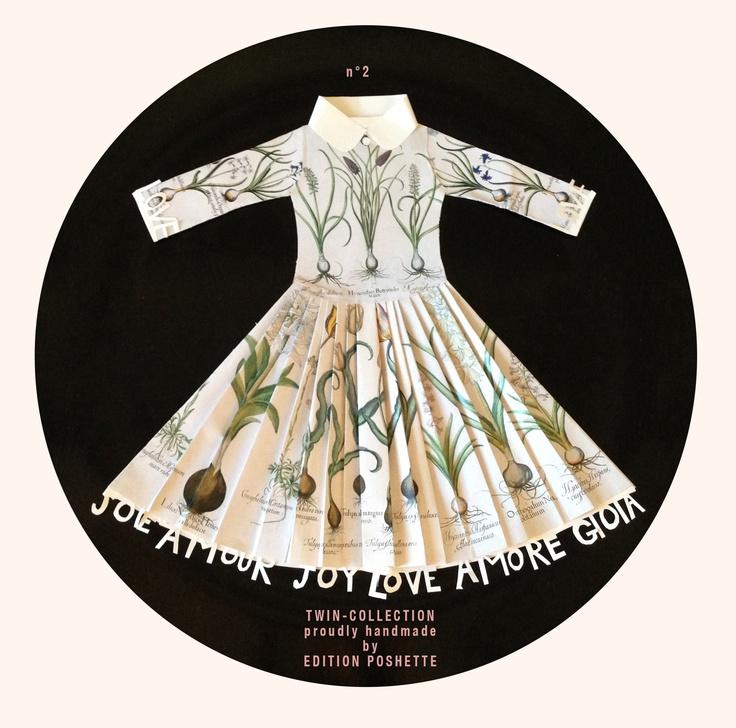 Paper dress (no 2) handmade by Edition Poshette for & company | Firenze Italy andcompanyshop.com