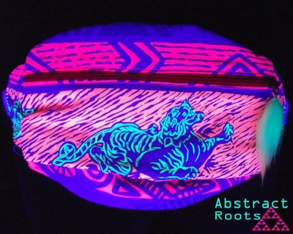 Neon Rave Fanny Pack by AbstractRoots on Etsy, $40.00