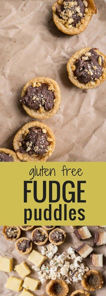 My favourite cookies! These Fudge Puddles have a peanut butter cookie ...