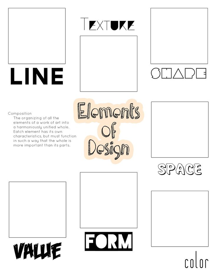 Art elements graphic organizer for the discerning little critic