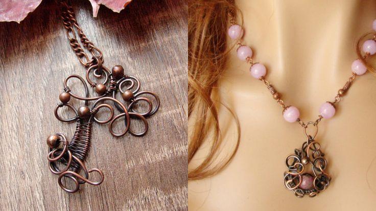 Karolina Spyra crea bellissimi gioielli artigianali usando fili di rame e alluminio e pietre naturali