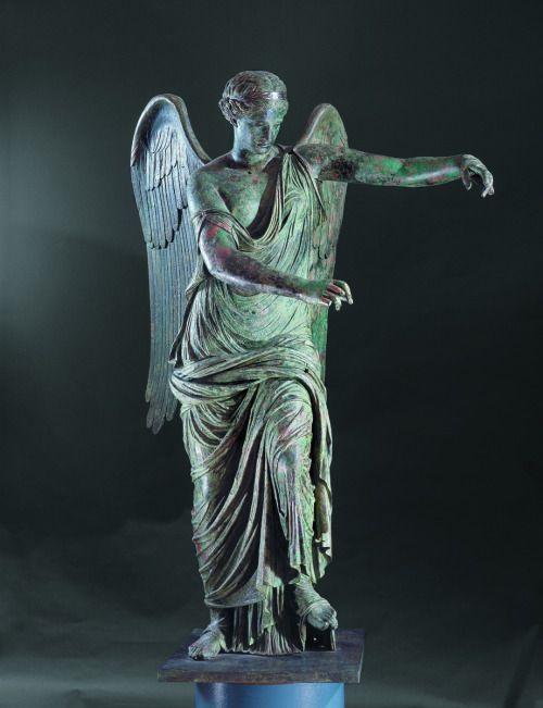 Winged Victory. Roman, Bronze, second quarter of the 1st century C.E. Santa Giulia Museum, Italy.