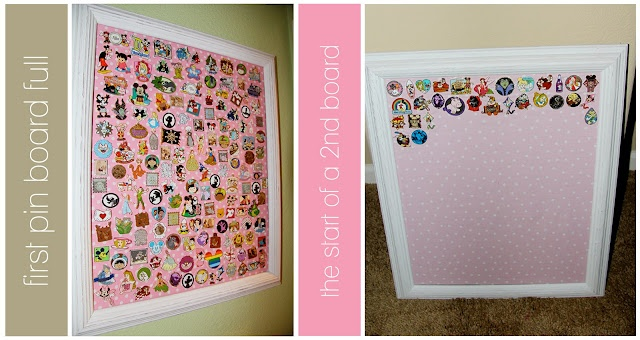 Disney Pin Board... This is a good idea for pinners who have too many pins to fit on a lanyard.