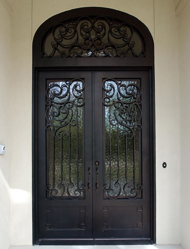 Iron entry doors for home iron entry doors double square for Large front doors for homes