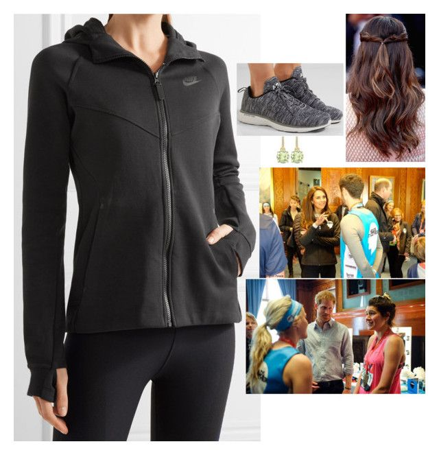 """Meeting with Heads Together runners of the London Marathon at Kensington Palace after falling ill at Buckingham Palace"" by fashion-royalty ❤ liked on Polyvore featuring adidas, NIKE, Vitamix, Falke and Athletic Propulsion Labs"