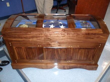 Custom navy sea chest retirement shadow box retirement for Shadow box plans pdf