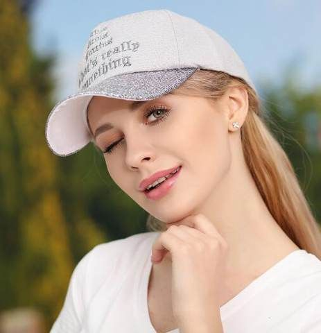 Letter baseball cap for women color block hip hop adjustable sun caps