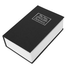English Dictionary Key Hidden Safe Box Black