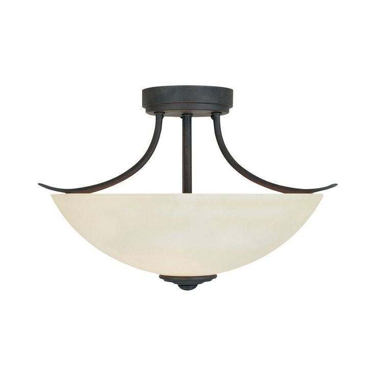 fountain montego 165in w oil rubbed bronze teastained glass semiflush mount light 96911orb