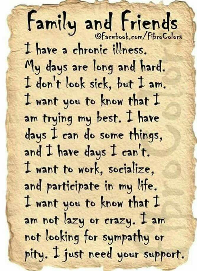 """""""Family and Friends letter from people living with chronic pain"""
